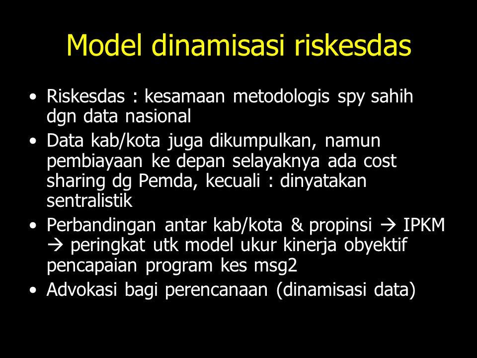 Model dinamisasi riskesdas