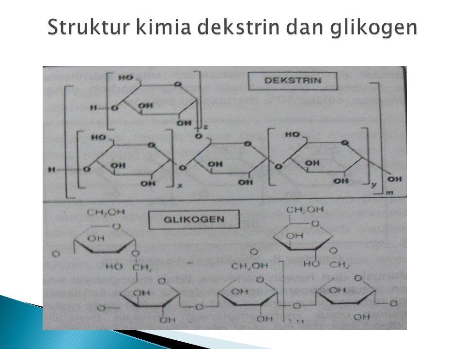 Struktur kimia dekstrin dan glikogen