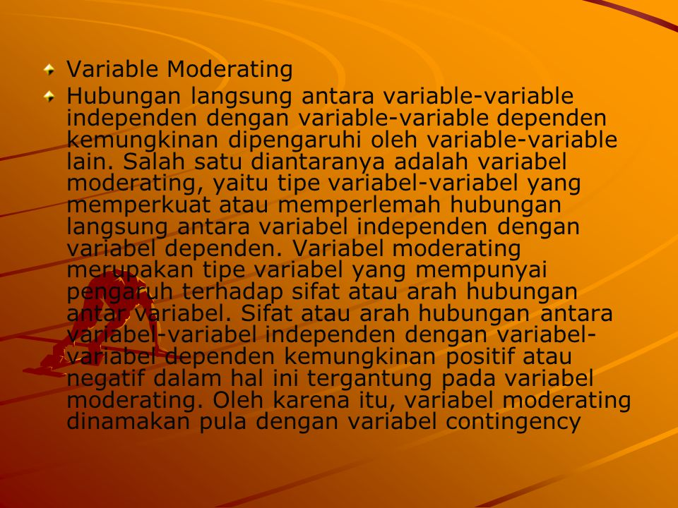 Variable Moderating