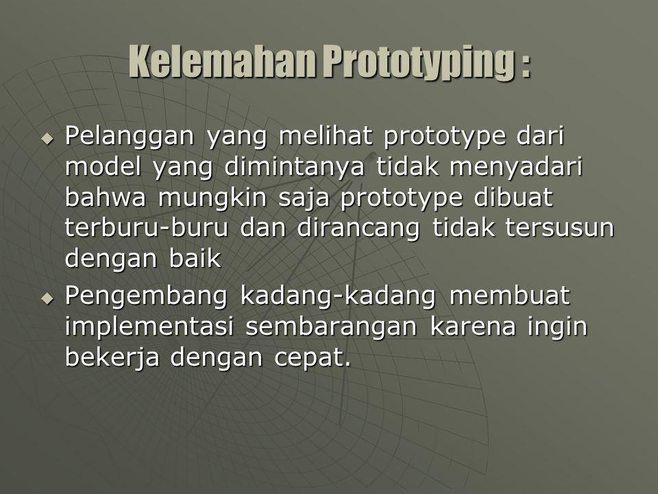 Kelemahan Prototyping :