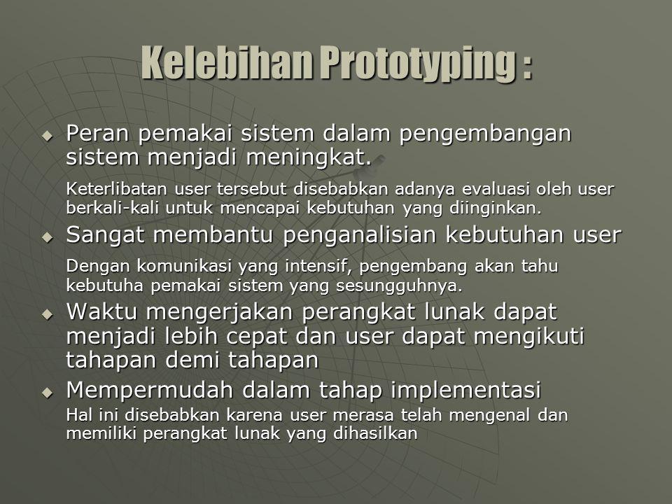 Kelebihan Prototyping :