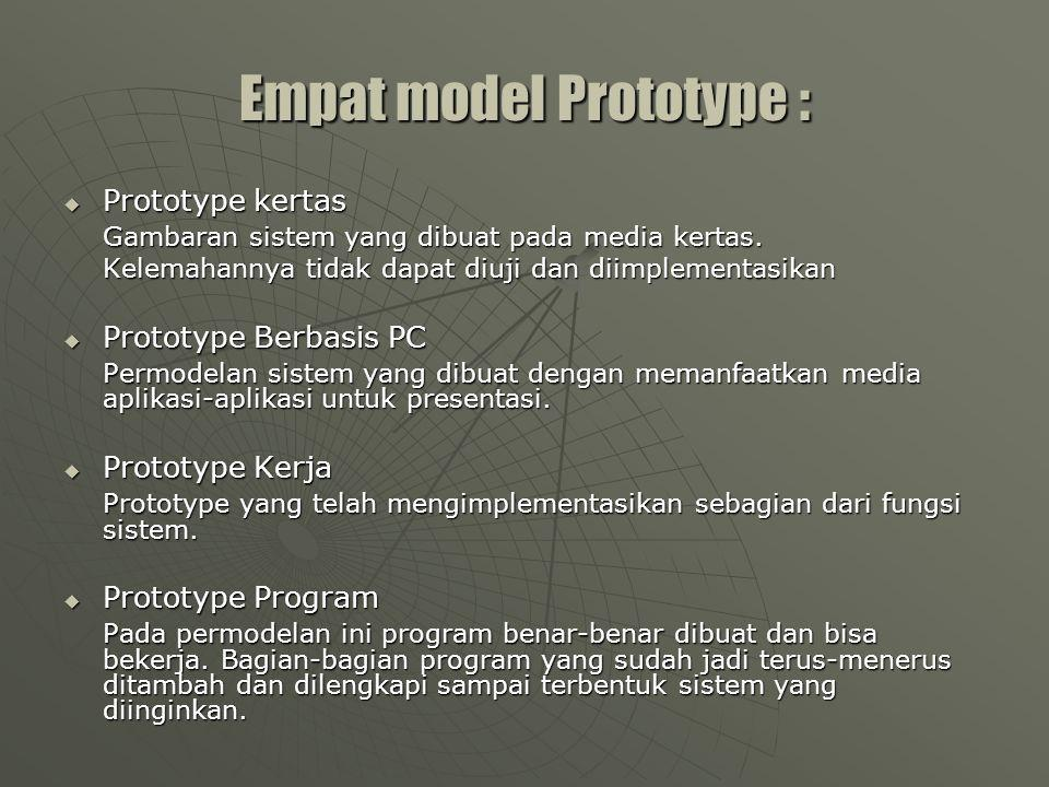 Empat model Prototype :