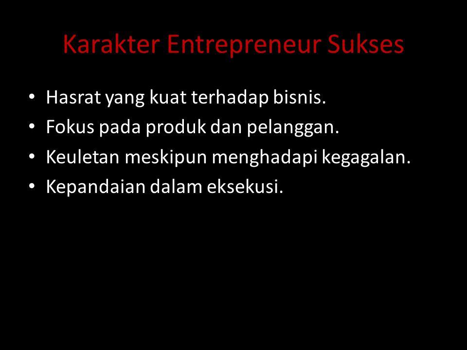 Karakter Entrepreneur Sukses