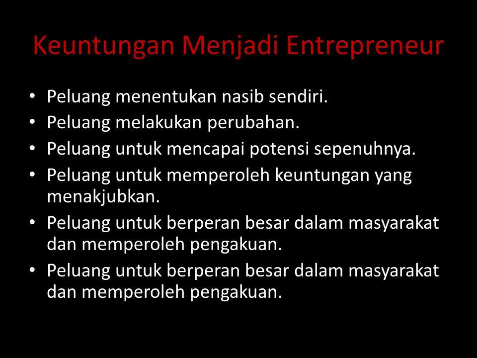 Keuntungan Menjadi Entrepreneur