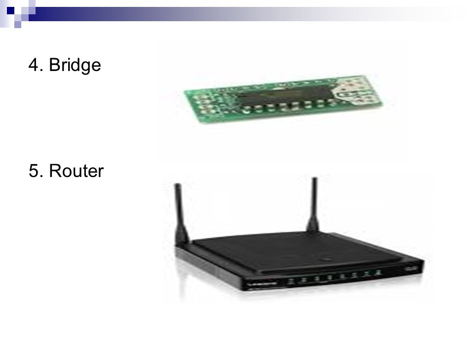 4. Bridge 5. Router