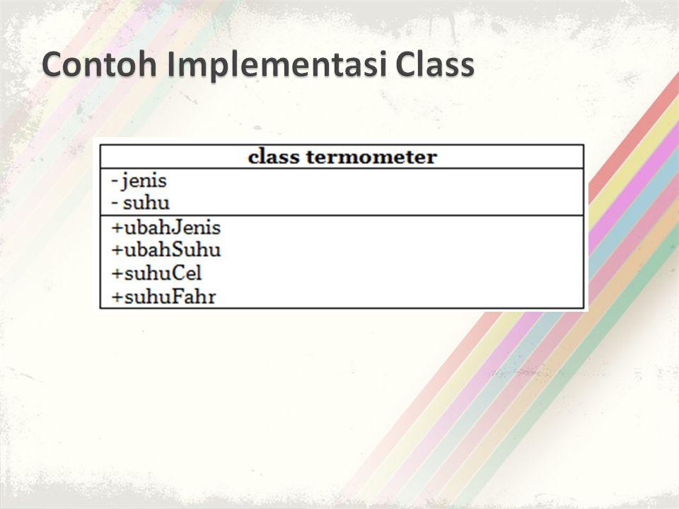 Contoh Implementasi Class