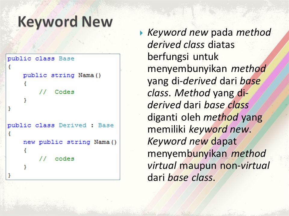Keyword New