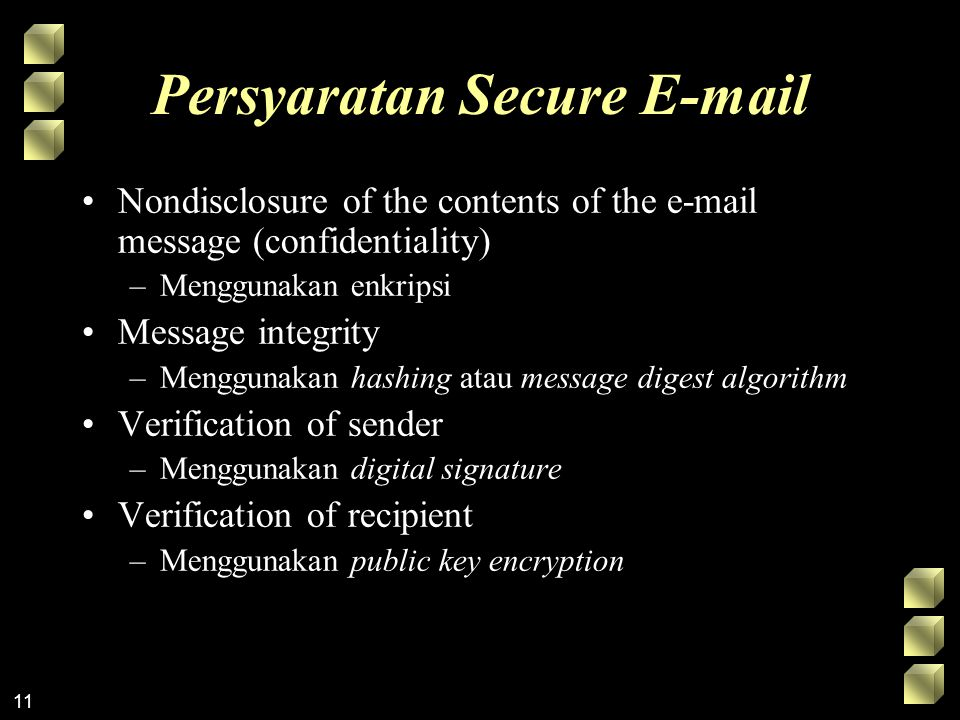Persyaratan Secure E-mail