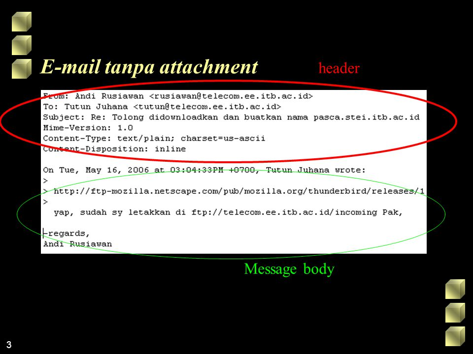 E-mail tanpa attachment