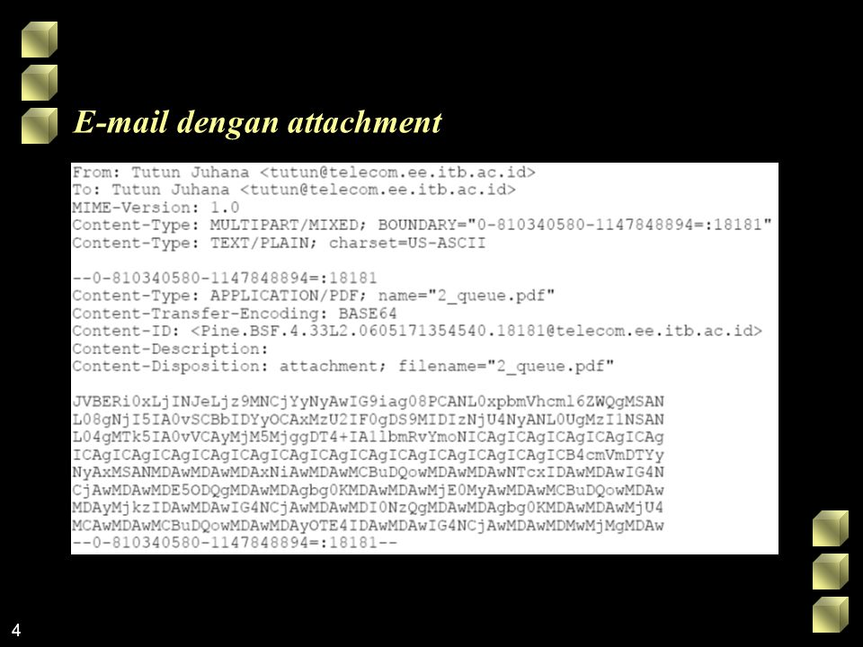 E-mail dengan attachment