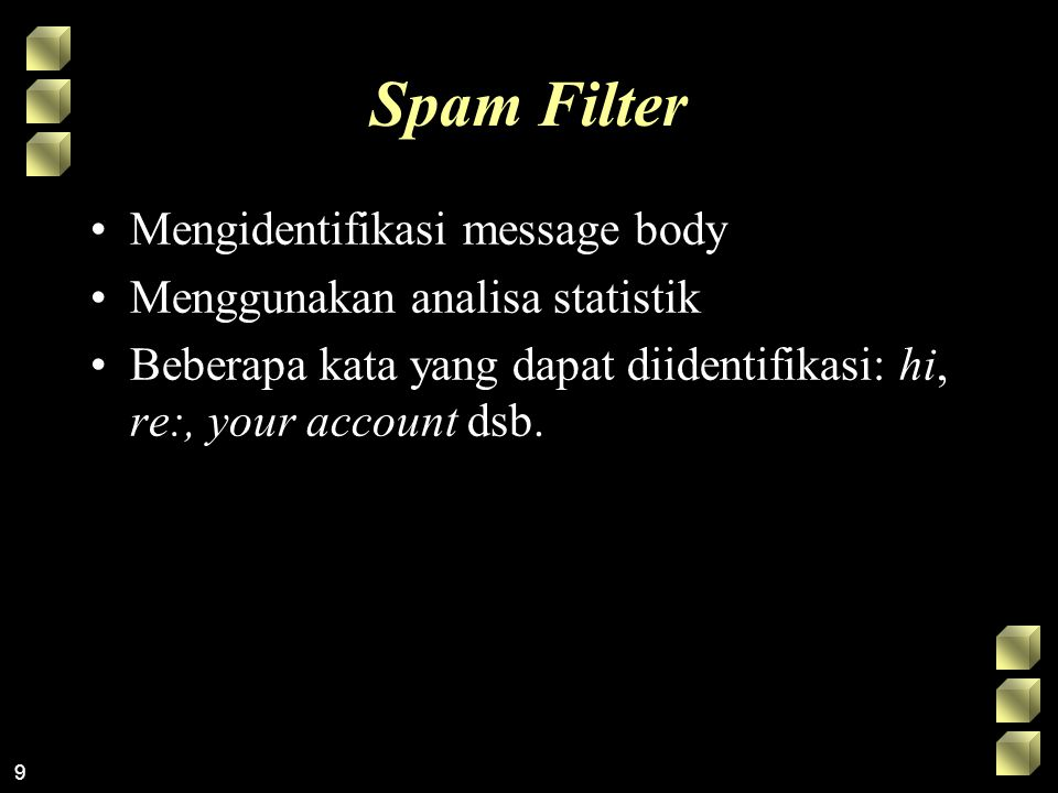 Spam Filter Mengidentifikasi message body