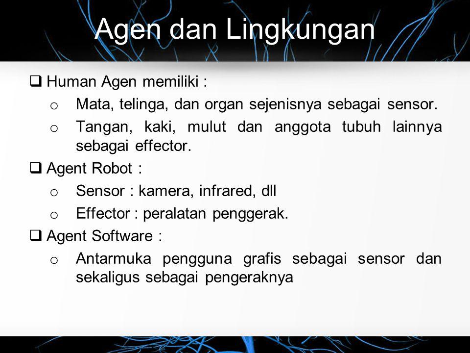 Agen dan Lingkungan Human Agen memiliki :
