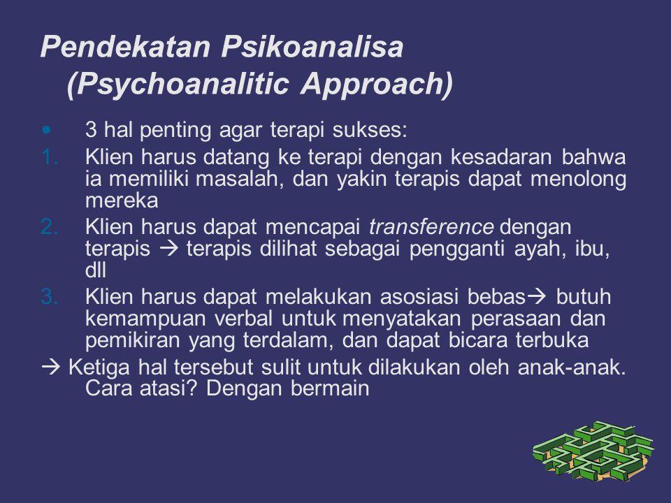 Pendekatan Psikoanalisa (Psychoanalitic Approach)