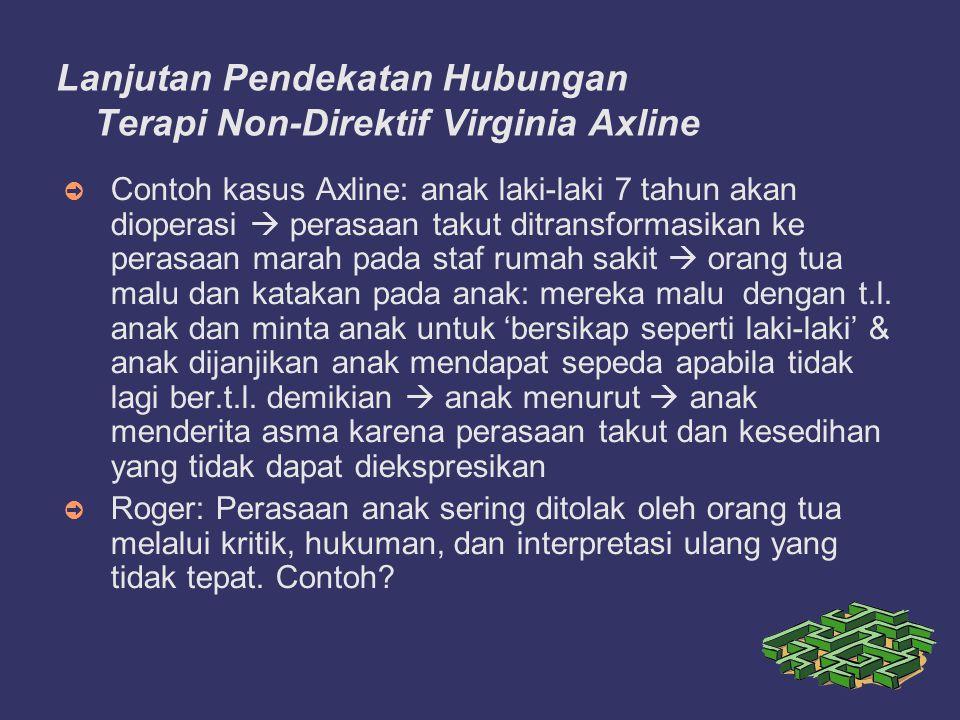 Lanjutan Pendekatan Hubungan Terapi Non-Direktif Virginia Axline