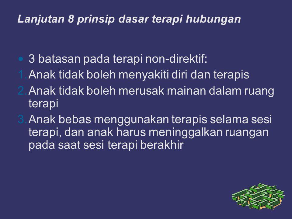Lanjutan 8 prinsip dasar terapi hubungan