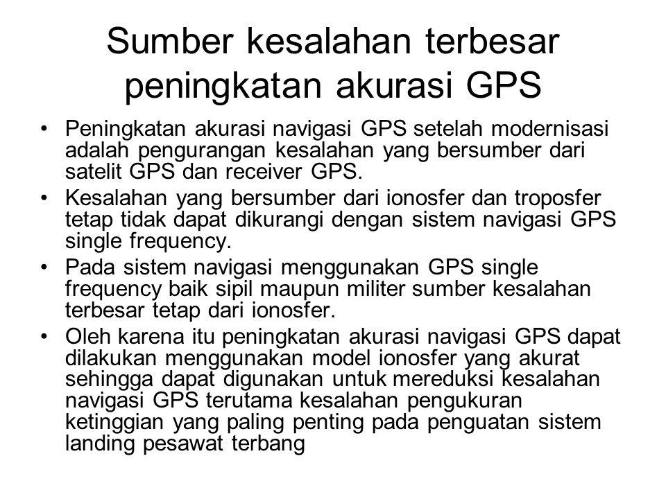 Sumber kesalahan terbesar peningkatan akurasi GPS