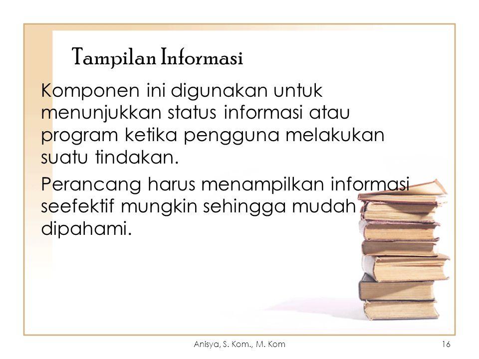 Tampilan Informasi