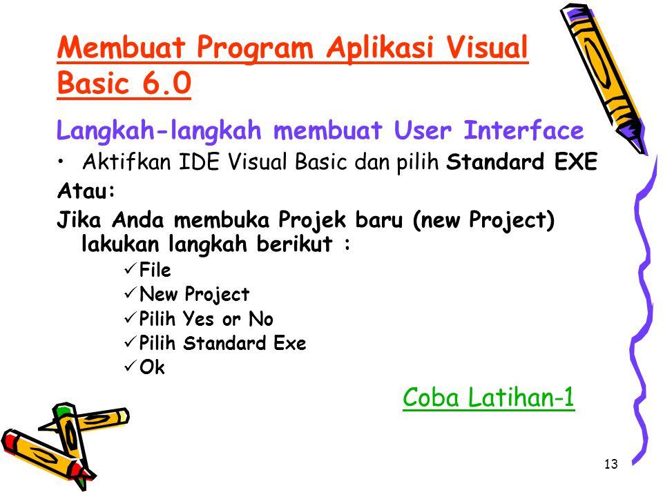 Membuat Program Aplikasi Visual Basic 6.0
