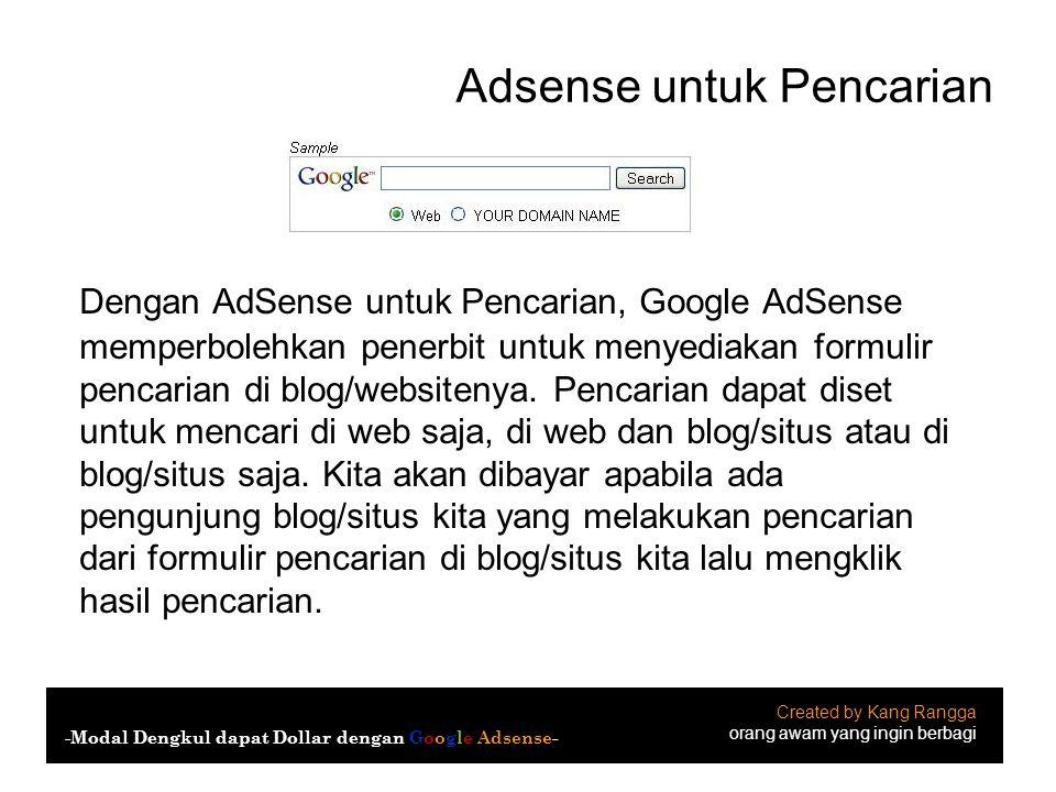 Adsense untuk Pencarian