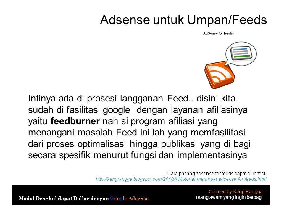 Adsense untuk Umpan/Feeds