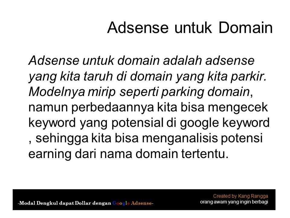 Adsense untuk Domain