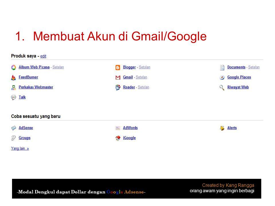 Membuat Akun di Gmail/Google