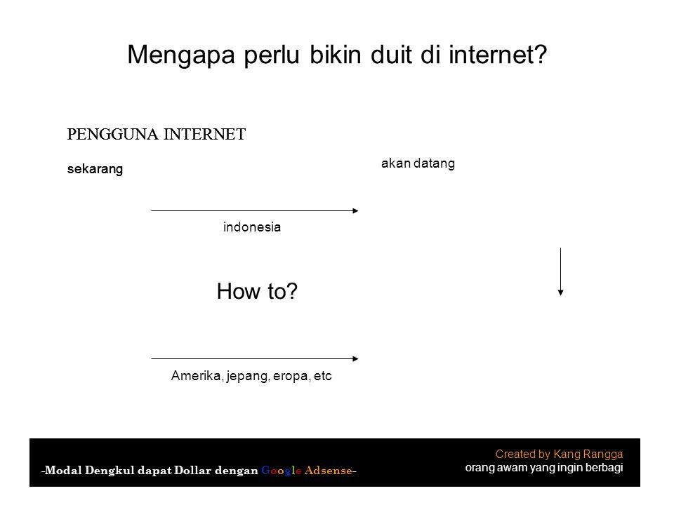 Mengapa perlu bikin duit di internet