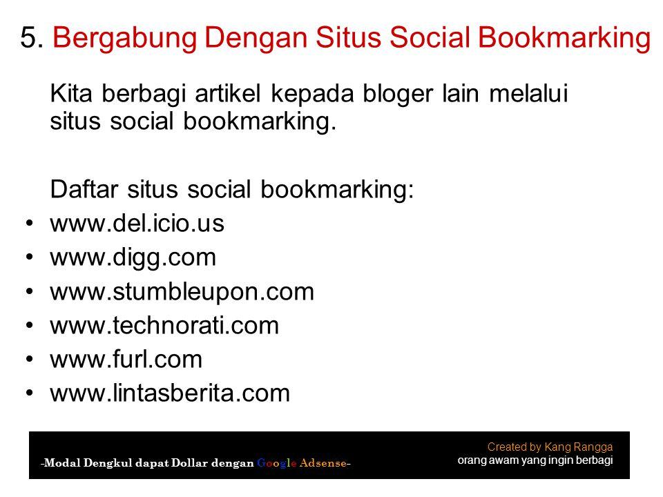 5. Bergabung Dengan Situs Social Bookmarking