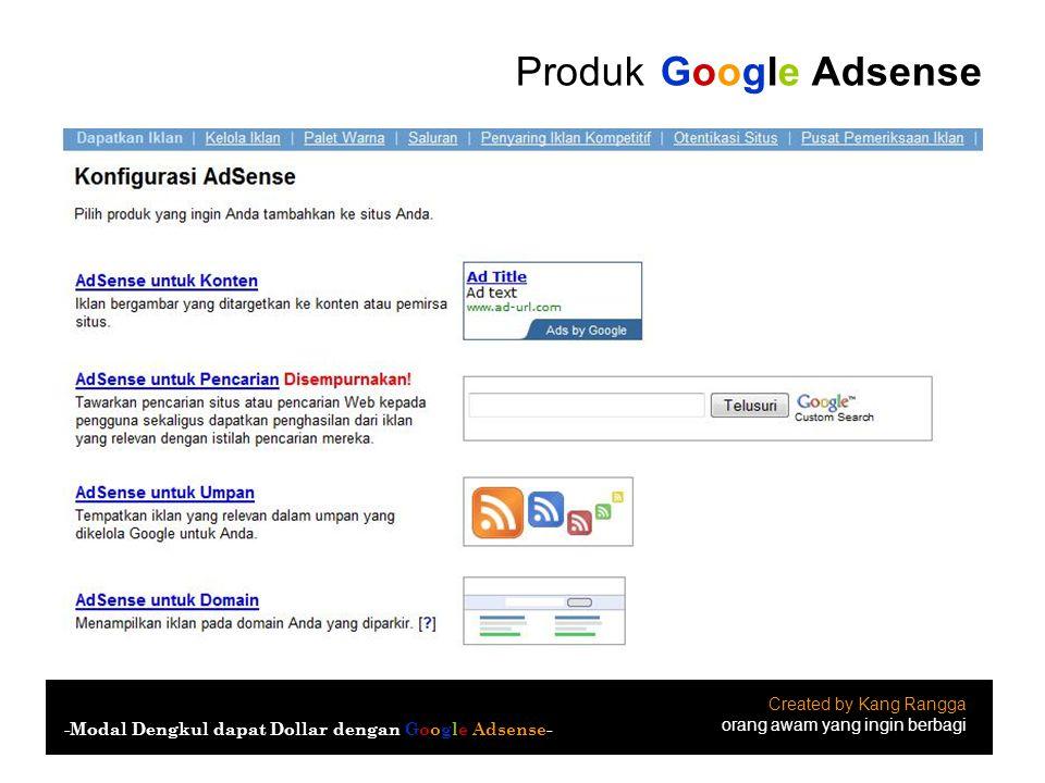 Produk Google Adsense Created by Kang Rangga