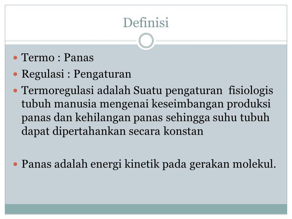 Definisi Termo : Panas Regulasi : Pengaturan