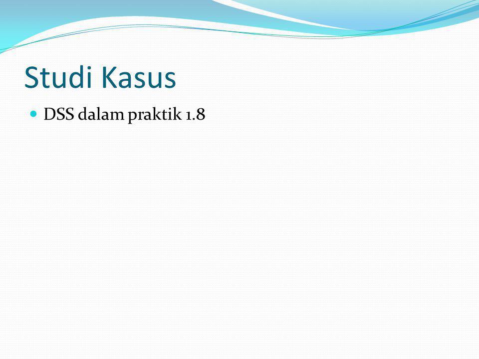 Studi Kasus DSS dalam praktik 1.8