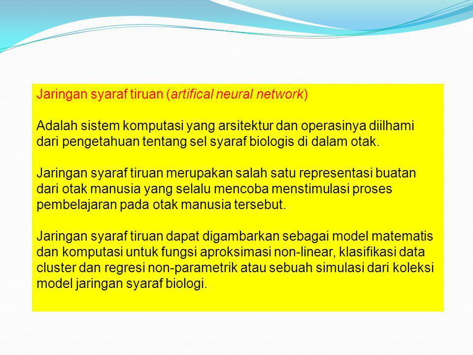 Jaringan syaraf tiruan (artifical neural network)