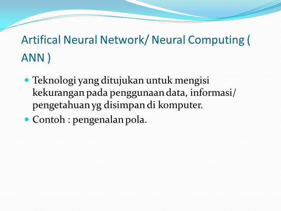 Artifical Neural Network/ Neural Computing ( ANN )