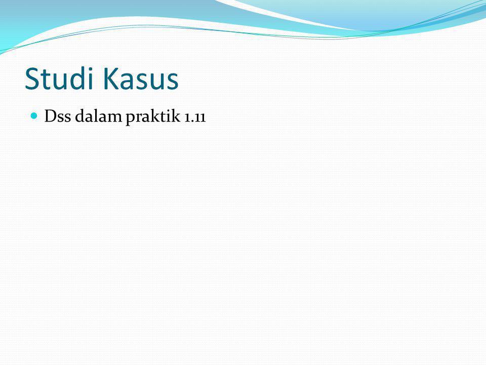 Studi Kasus Dss dalam praktik 1.11