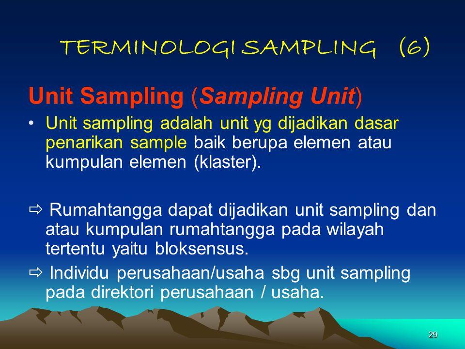 TERMINOLOGI SAMPLING (6)