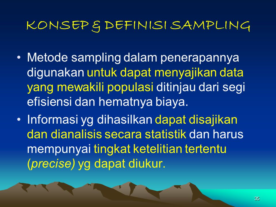 KONSEP & DEFINISI SAMPLING