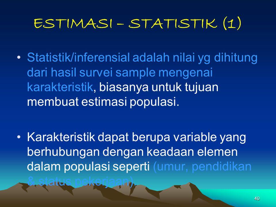 ESTIMASI – STATISTIK (1)