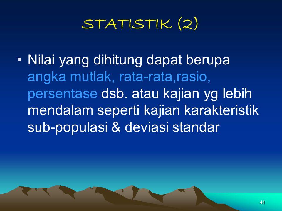 STATISTIK (2)