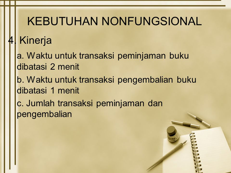 KEBUTUHAN NONFUNGSIONAL