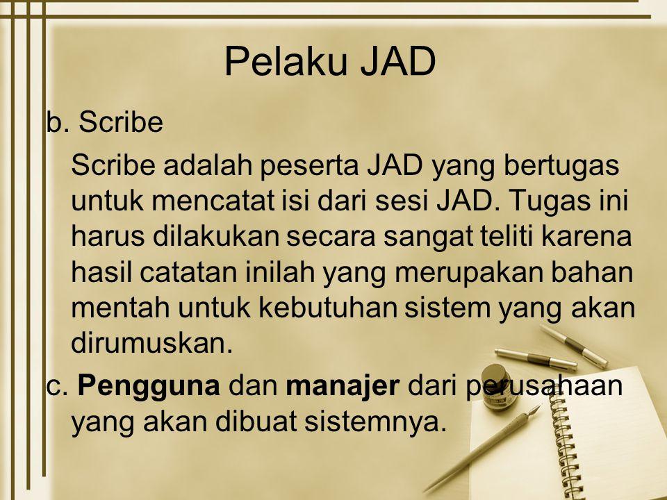 Pelaku JAD b. Scribe.