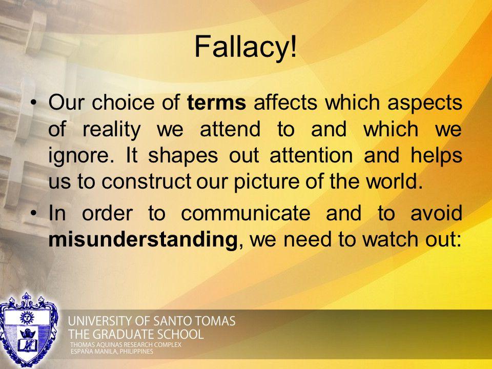 Fallacy!