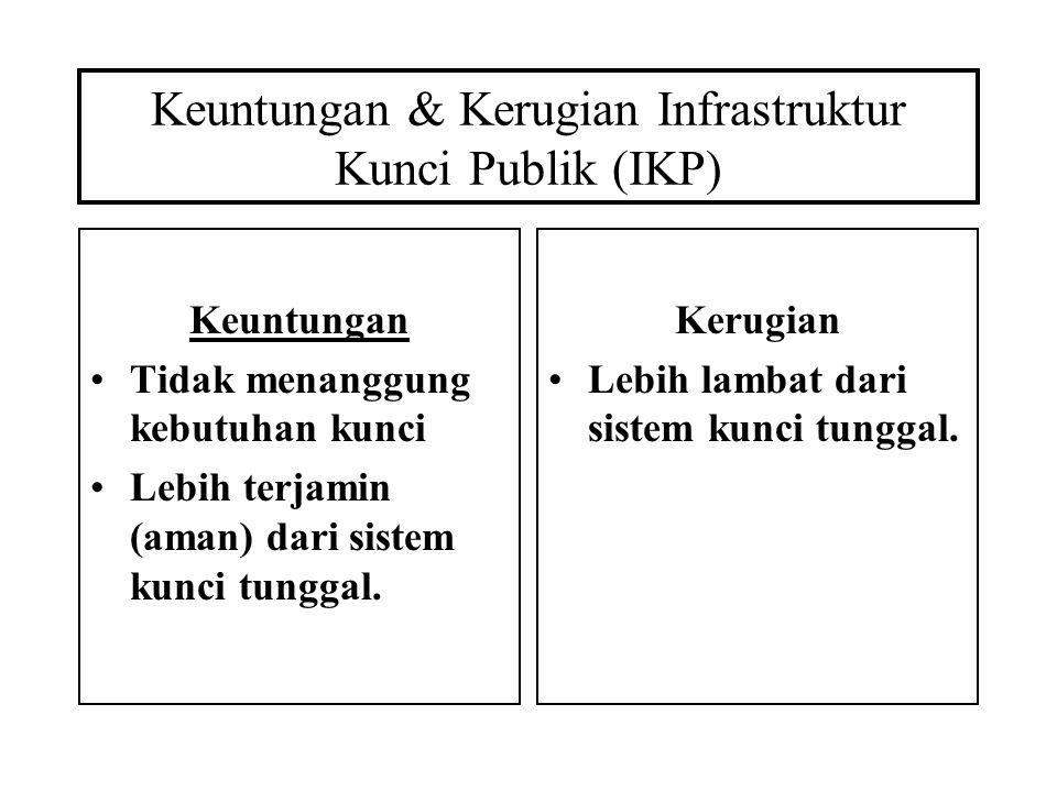 Keuntungan & Kerugian Infrastruktur Kunci Publik (IKP)