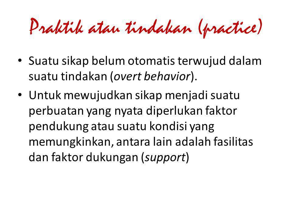 Praktik atau tindakan (practice)
