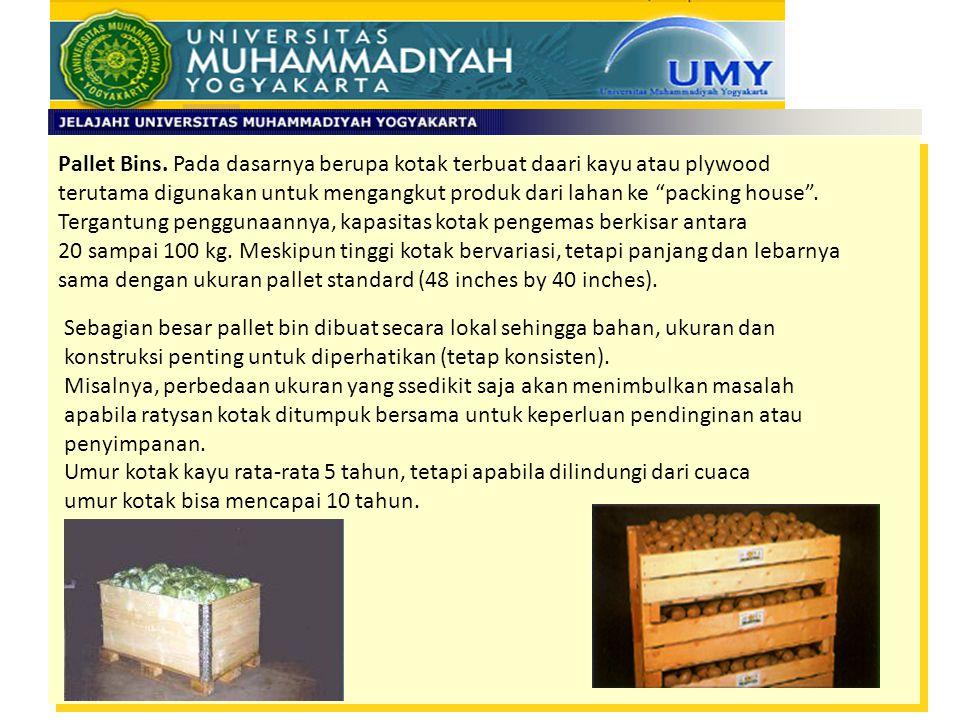 Pallet Bins. Pada dasarnya berupa kotak terbuat daari kayu atau plywood