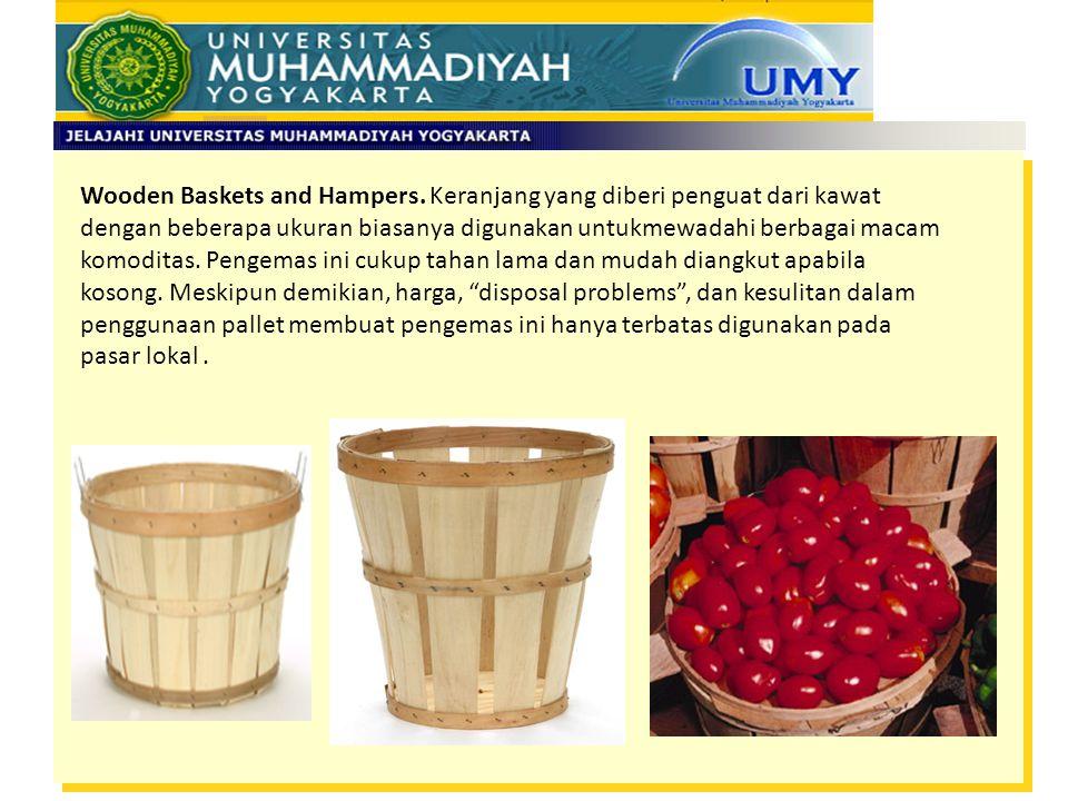 Wooden Baskets and Hampers. Keranjang yang diberi penguat dari kawat
