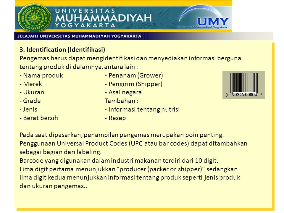 3. Identification (Identifikasi)