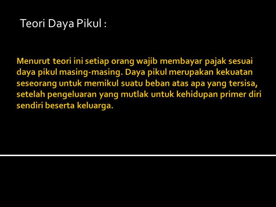 Teori Daya Pikul :