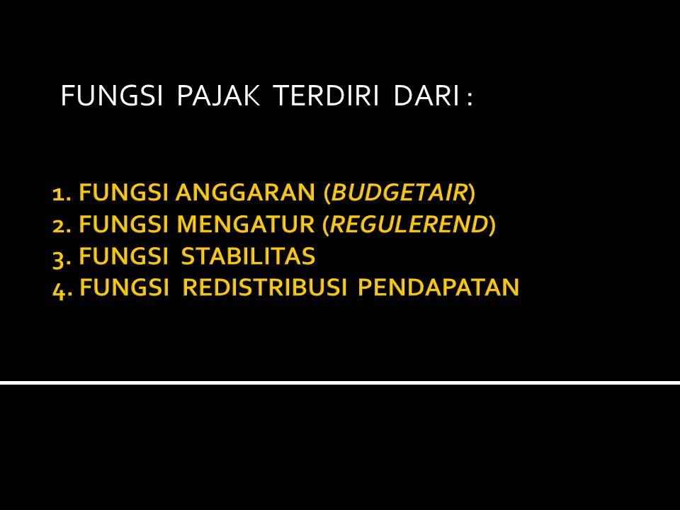 Fungsi pajak terdiri dari :