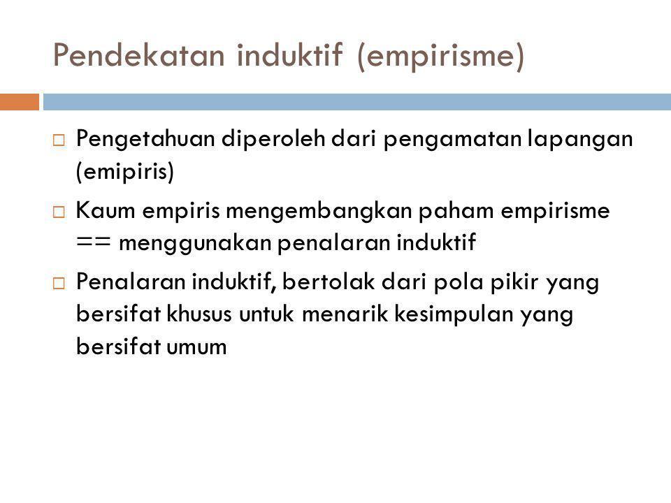 Pendekatan induktif (empirisme)