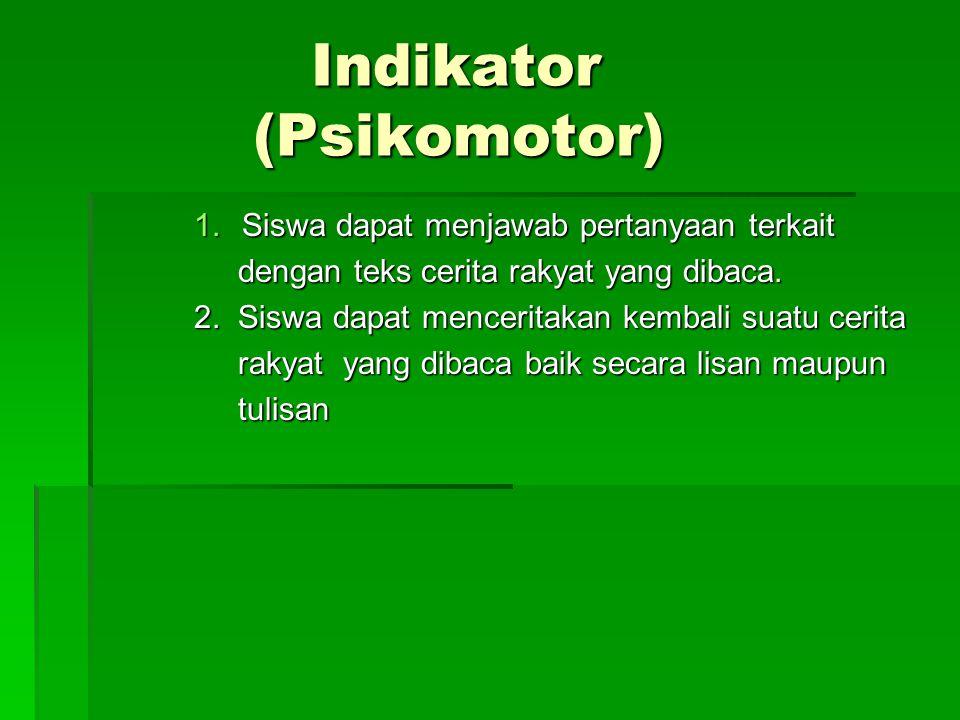 Indikator (Psikomotor)